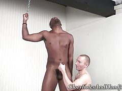 Take a good, hard look at him and know that his strong but soft hands know their way around a big black shaft. He`s also no stranger to foreplay since whitey caressed my black pole right before the games began. The smile on his face says it all and the ha