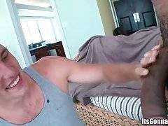 Cute White Guy Hungrily Tastes Huge Black Cock 2