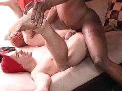 Craving white guy gets his butt hole deeply drilled by black dude.