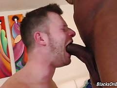Today he`s juggling so much he forgets the handsome black man at the door is a hook up...and NOT the man looking to rent a room! And look at the expression on Brian`s face when he sees his new friend is a `True 10`! Uncut, too!! Brian drops to his knees a