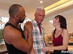The Bull loves training straight men how to suck cock and take his enormous piece of black meat up their white asses!! And guess who`s going to observe this `training session` -- and maybe help the Bull train hubby suck cock and get fucked! Alana`s going