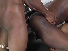 The couch is crowded for this black thug party, with some boys sucking on each other`s dicks and other skipping right to the ass pounding in this video.